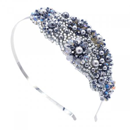ICE LADY | Bentita par argintie cu perle0