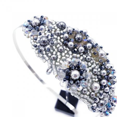 ICE LADY | Bentita par argintie cu perle3