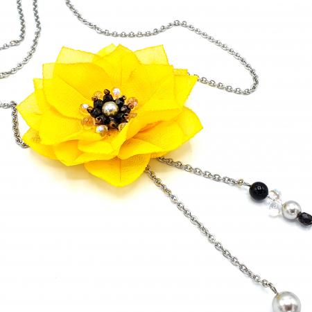 DAISY | Colier lung, floare galbena3
