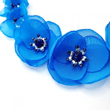 BLOSSOM | Colier cu flori albastre, statement1