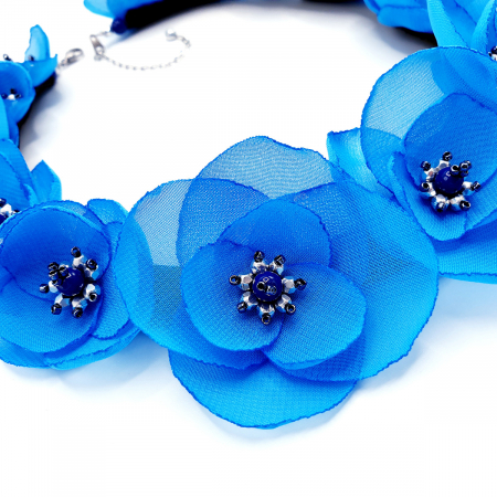 BLOSSOM | Colier cu flori albastre, statement2
