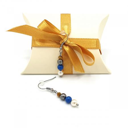 FANTEZIE | Set colier la baza gatului si cercei, cu perle3