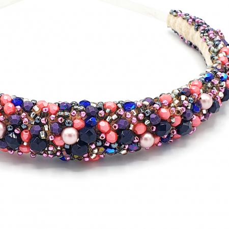 INSPIRATION | Diadema par multicolora, roz-lila1