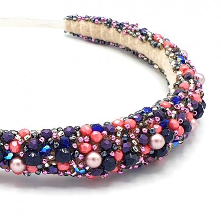 INSPIRATION | Diadema par multicolora, roz-lila4