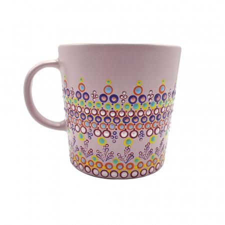 ELORA | Cana roz pentru cafea/ ceai, pictata manual, multicolor0