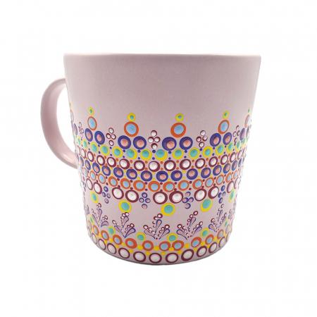 ELORA | Cana roz pentru cafea/ ceai, pictata manual, multicolor1