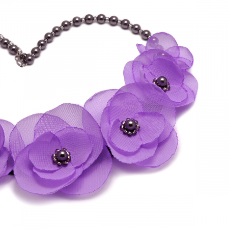 CUTE LILLY | Colier statement cu flori lila1