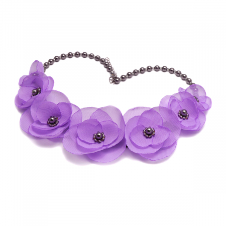 CUTE LILLY | Colier statement cu flori lila3
