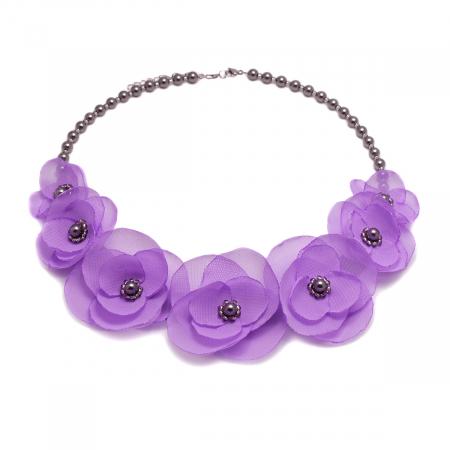 CUTE LILLY | Colier statement cu flori lila0