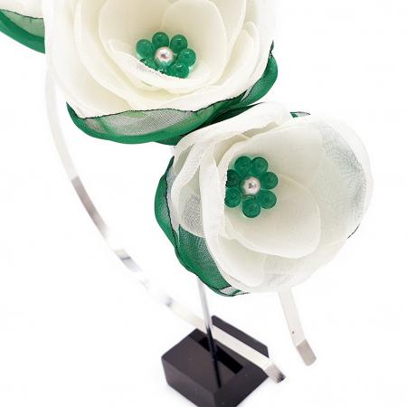 WHITE FAIRY | Cordeluta par cu flori albe, din voal3