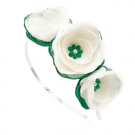 WHITE FAIRY | Cordeluta par cu flori albe, din voal0
