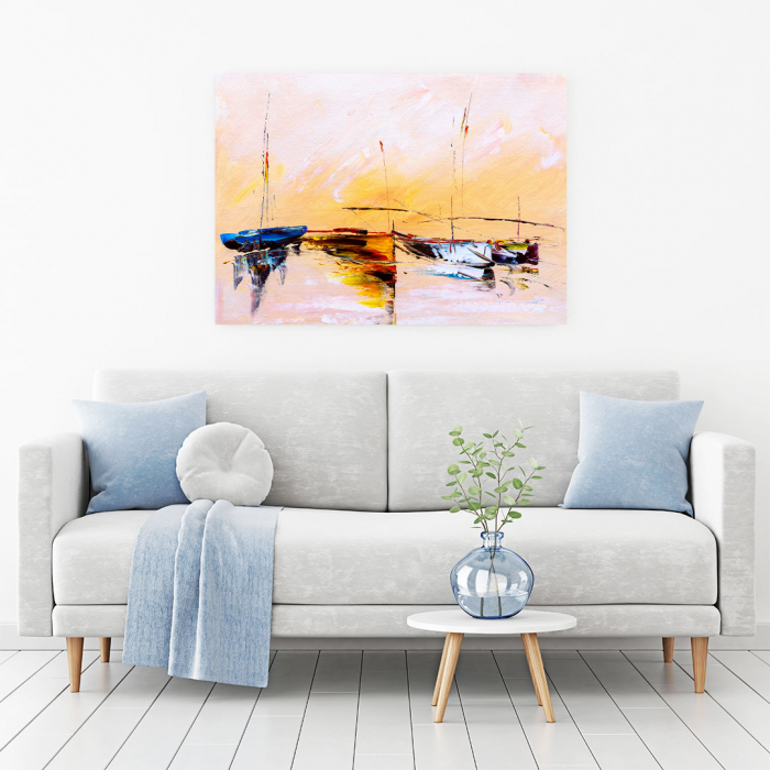 Tablou Canvas - Painting Boat 1