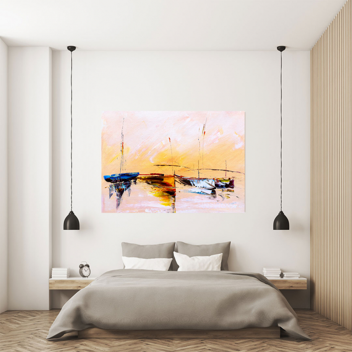 Tablou Canvas - Painting Boat 3