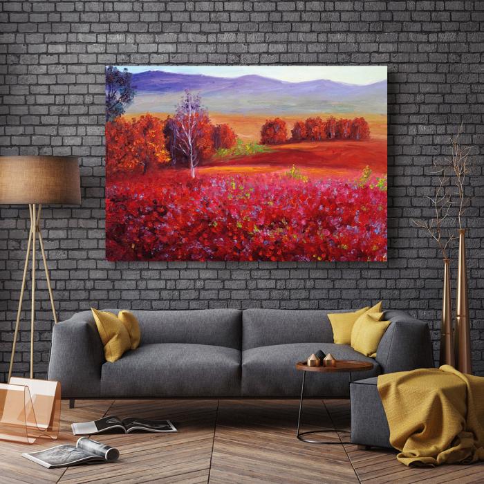 Tablou Canvas - Red Autumn [2]