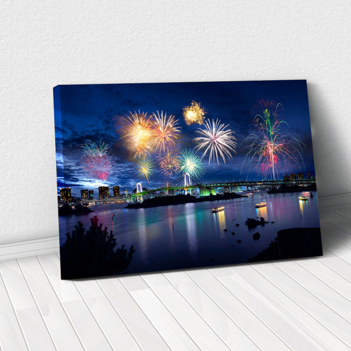 Tablou Canvas - Tokyo Fireworks 0