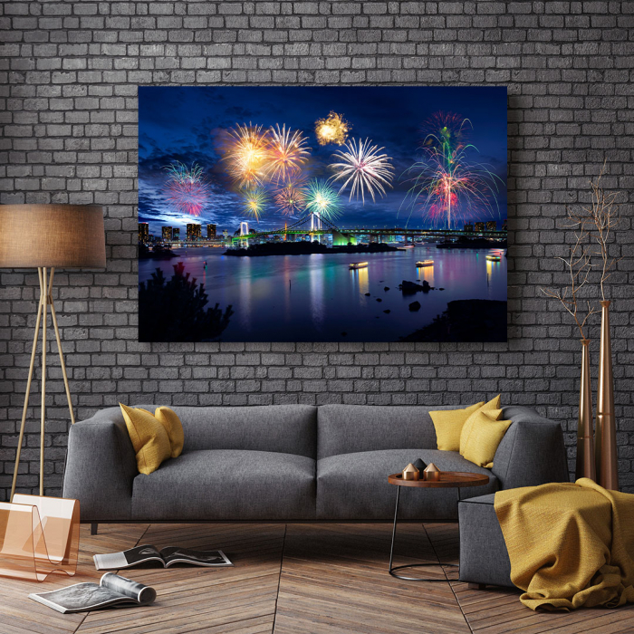 Tablou Canvas - Tokyo Fireworks 2