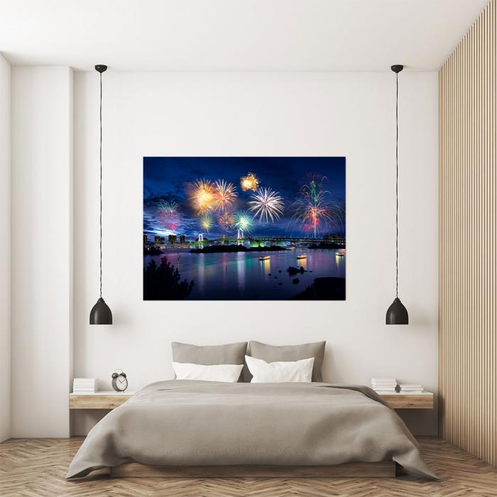 Tablou Canvas - Tokyo Fireworks 3
