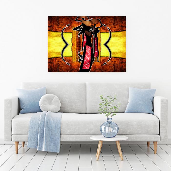 Tablou Canvas - African Ethno Ilustration [1]