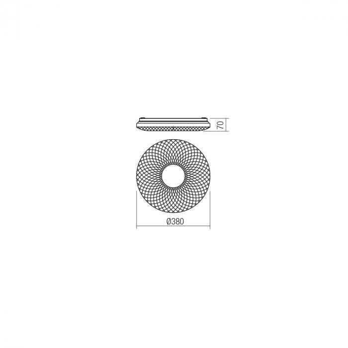 Plafoniera LED ,alb cu efect de sclipire 1