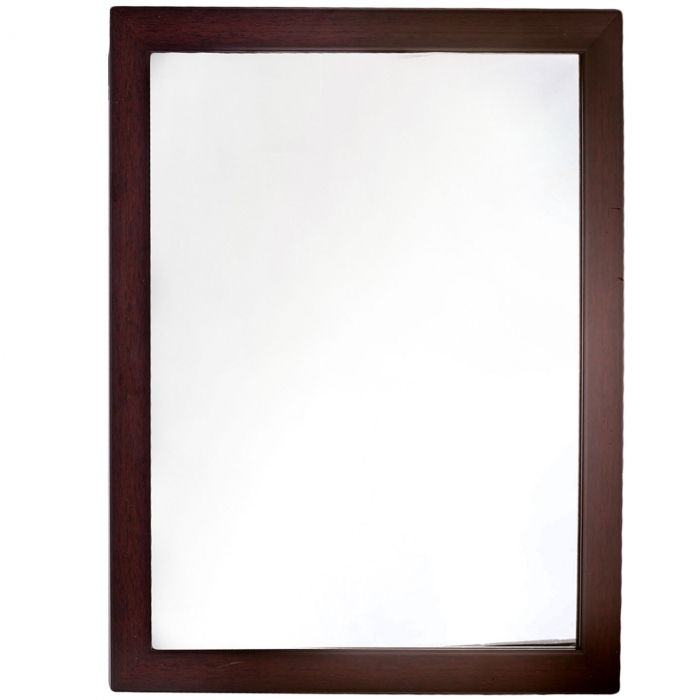 Oglindă de perete maro 46x56x4 cm [0]