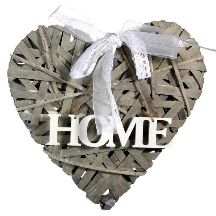 Inimă din lemn decorativă 0