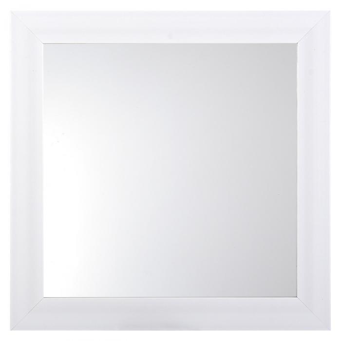 Oglindă de perete albă 36x36x4 cm 0