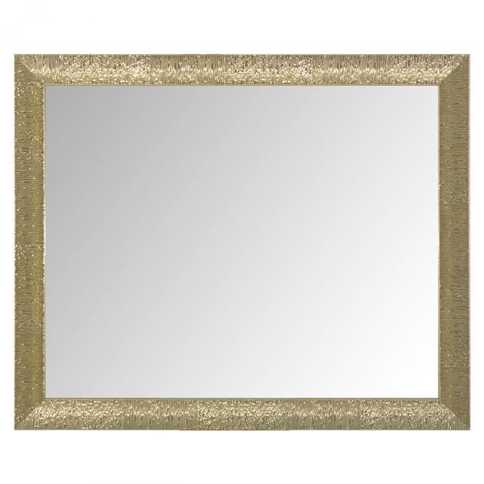 Oglindă de perete cu cadru pătrat auriu 0