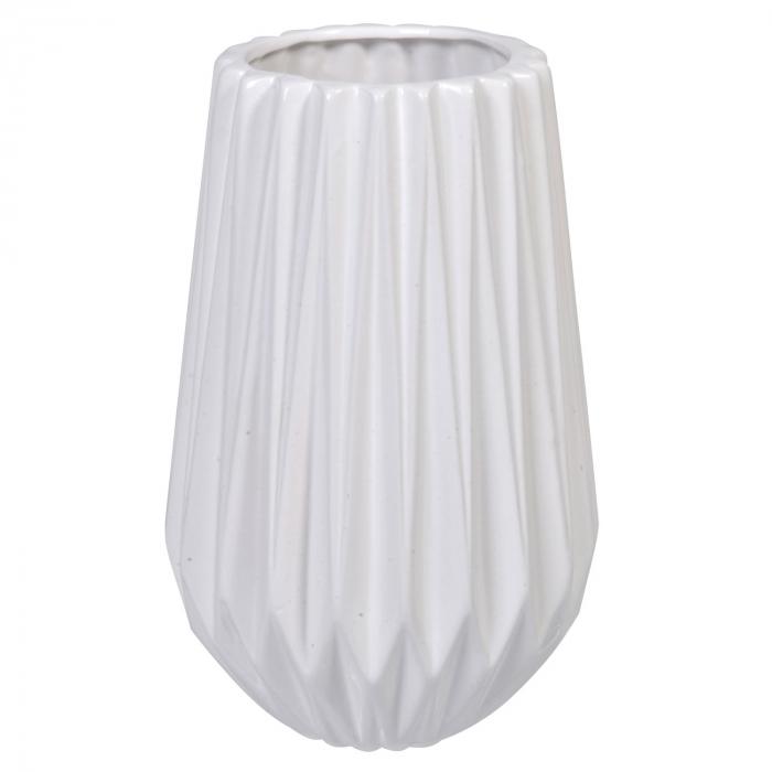 Vază albă din ceramică. 22cm 0