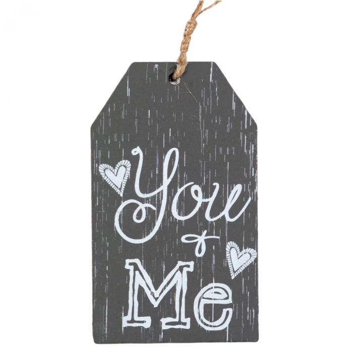 Ornament din lemn YOU & ME.11x6 cm 0