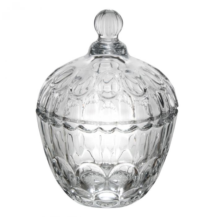Bombonieră din sticlă cu capac 750ml 1