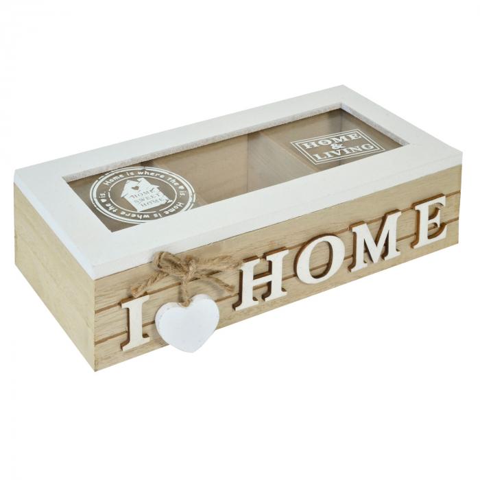 Cutie de depozitare din lemn 24x10x7. 0