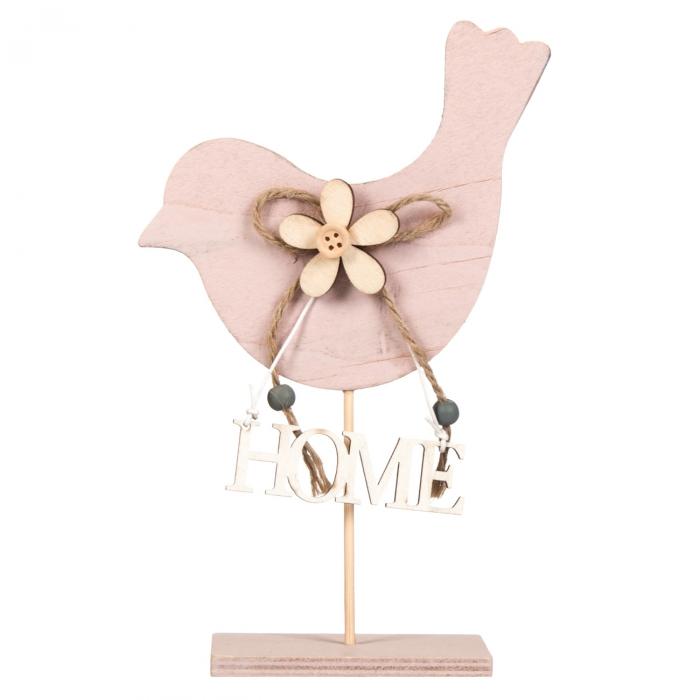 Pasăre decorativă din lemn.13x18.5 0