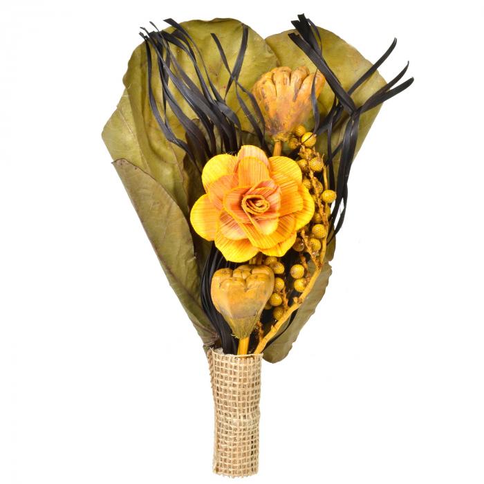 Flori uscate ornamentale, galben-maro 25 cm 0