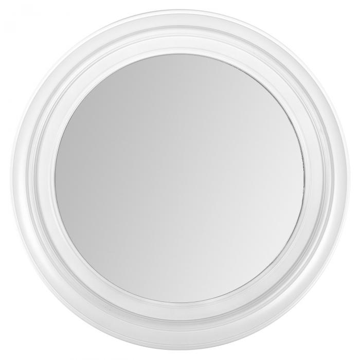 Oglindă rotundă cu cadru alb 0