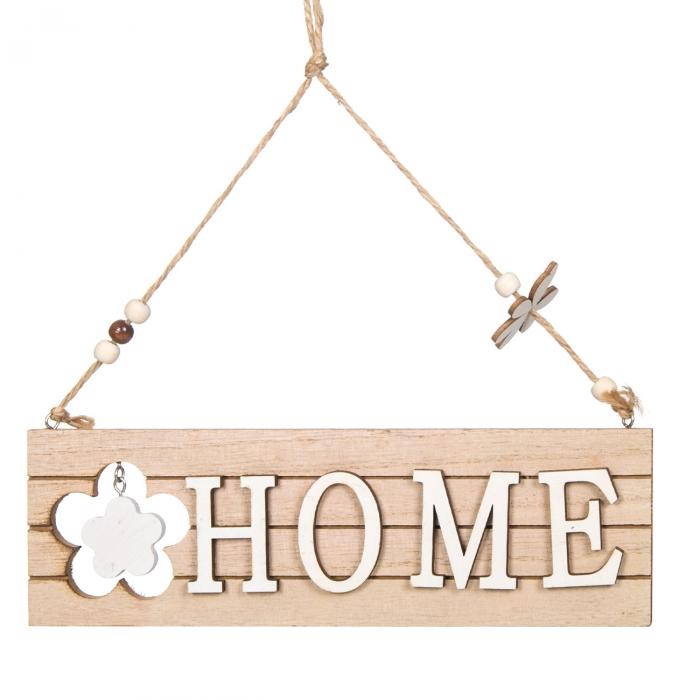 Decor din lemn HOME.26cm 0