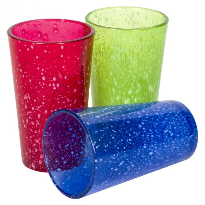 Set 3 pahare colorate (rosu-albastru-verde) 330ml 0