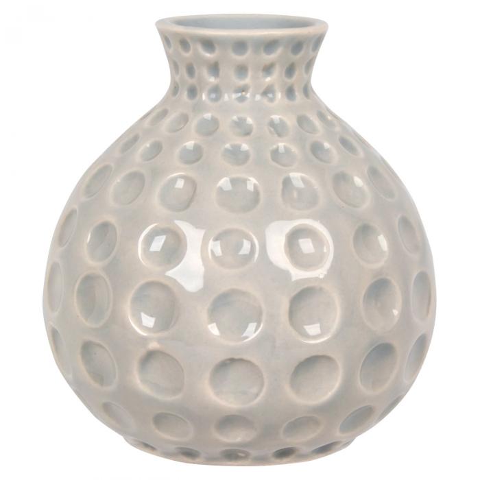 Vază decorativă gri din ceramică. [0]