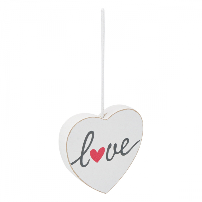 Inimă albă decorativă.9x9 cm 0