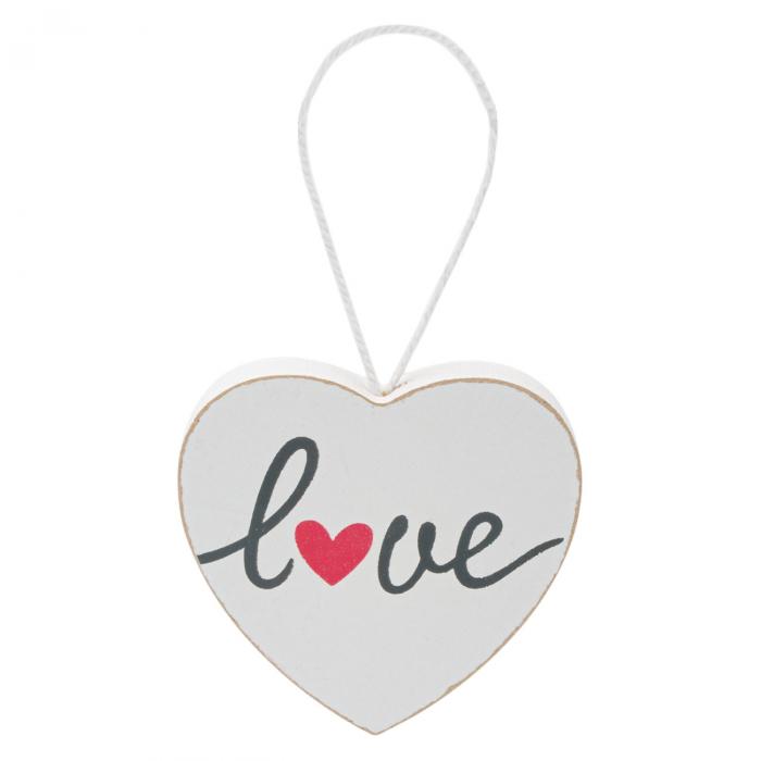 Inimă albă decorativă.9x9 cm 1