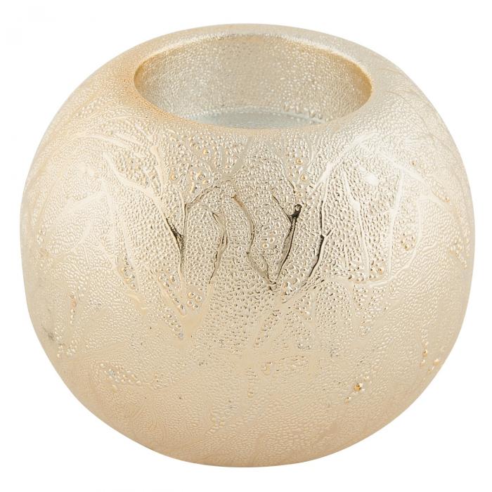 Suport pentru lumânare din ceramică crem. [0]