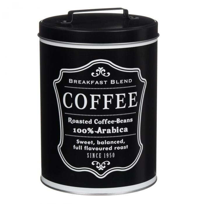 Cutie metalică pentru depozitare cafea 0