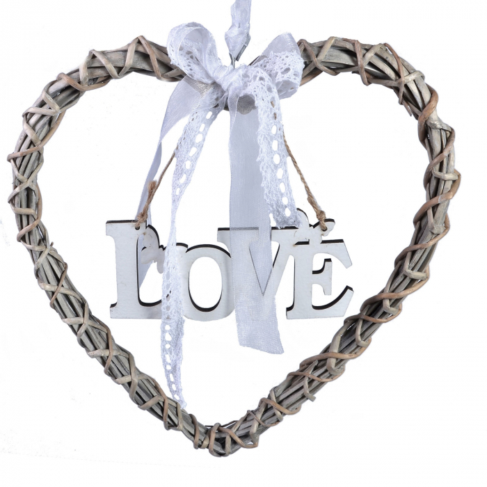 Inimă din lemn LOVE 0