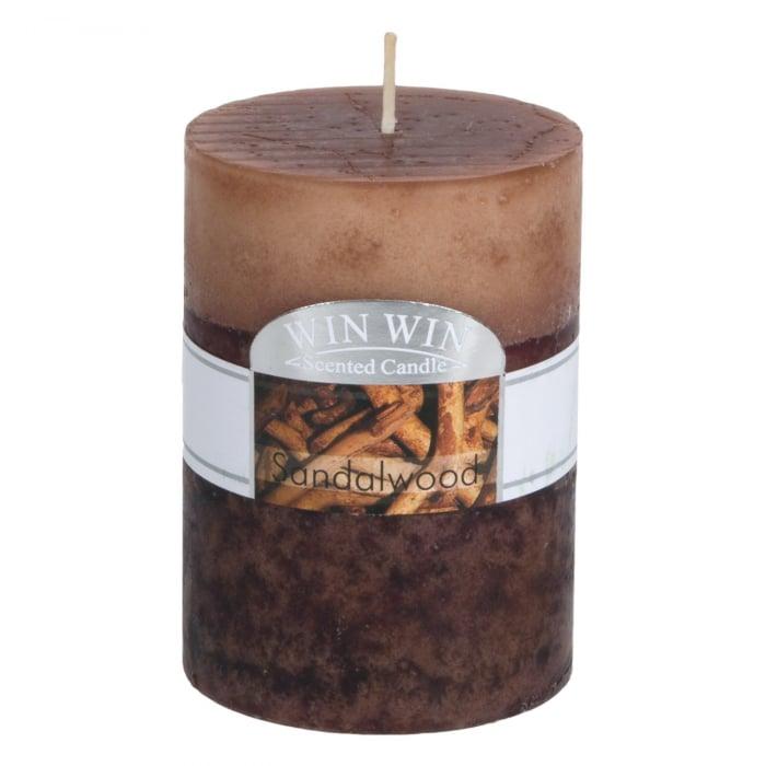 Lumânare parfumată din lemn de santal.6,8x9,5 cm 0