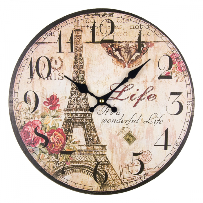 "Ceas de perete rotund MDF ""Paris"" 34 cm 0"