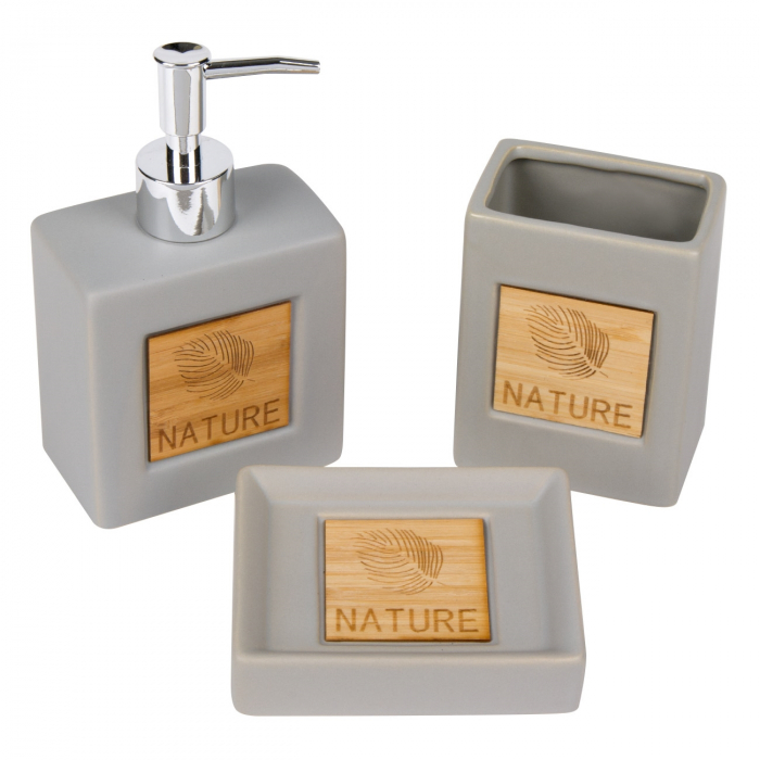 """Set de baie din ceramică """"Nature"""" - 3 buc. 0"""
