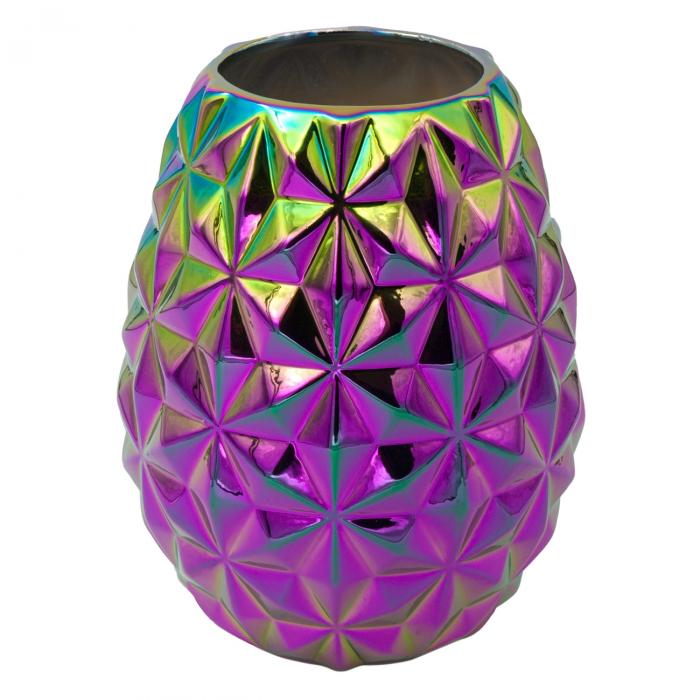 """Vază """"Cameleon"""" din ceramică cu design în relief și culori multiple.20 cm [0]"""