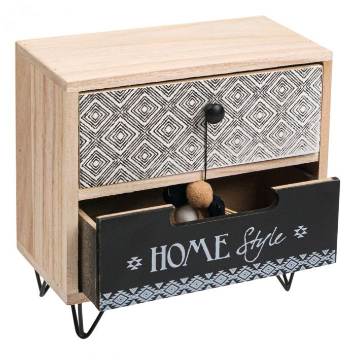 """Cutie din lemn decorativă""""HOME STYLE""""20x10x20 cm 2"""