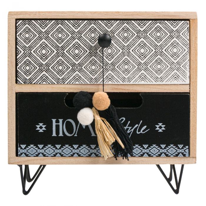 """Cutie din lemn decorativă""""HOME STYLE""""20x10x20 cm 0"""
