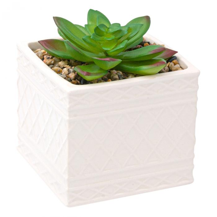 Ghiveci din ceramică cu floare ornamentală 1