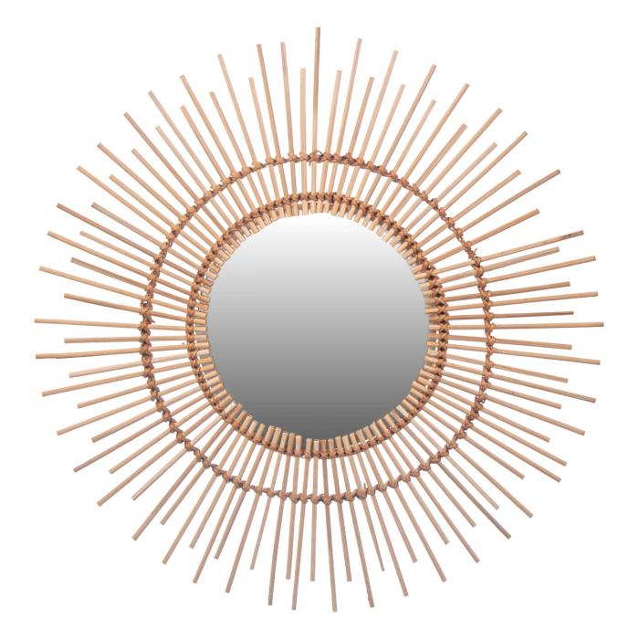 Oglinda ornată cu bambus 55 cm 0
